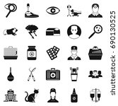 anxiety icons set. simple set... | Shutterstock .eps vector #690130525