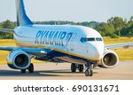 Small photo of GDANSK, POLAND - July 19, 2017: EI- FTC - Boeing 737 - Ryanair plane on the airstrip is ready for departure from Lech Walesa International Airport in Gdansk.