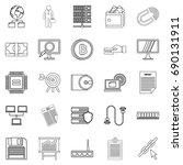 clerk icons set. outline set of ...   Shutterstock .eps vector #690131911