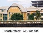 bangkok  thailand. chao phraya... | Shutterstock . vector #690135535