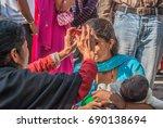 swayambhunath  best loved... | Shutterstock . vector #690138694