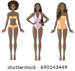 vector illustration with three... | Shutterstock .eps vector #690143449