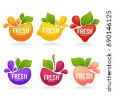 vector collection of fresh... | Shutterstock .eps vector #690146125