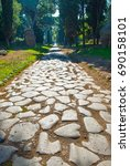 Small photo of Italy,Rome, the original pavement of Roman time of Via Appia Antica