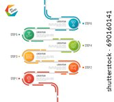 abstract 6 steps road timeline...   Shutterstock .eps vector #690160141
