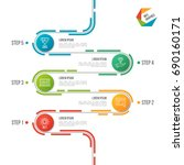 abstract 5 steps road timeline... | Shutterstock .eps vector #690160171