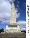 Wellington Testimonial , a 62 metres (205 ft) tall obelisk located in Phoenix Park, Dublin, Ireland - stock photo