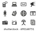 media vector icons for user... | Shutterstock .eps vector #690168751