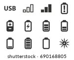 battery and power vector icons...   Shutterstock .eps vector #690168805