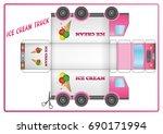 ice cream truck | Shutterstock . vector #690171994