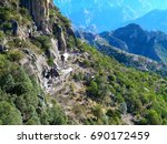 copper canyons. sierra madre... | Shutterstock . vector #690172459