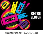 retro party background | Shutterstock .eps vector #69017350