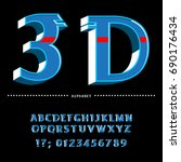 style 3d.english alphabet  abc....