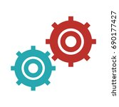 gears symbol concept of motion... | Shutterstock .eps vector #690177427