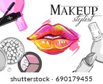 vector hand drawn illustration... | Shutterstock .eps vector #690179455
