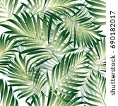 tropical palm leaves  jungle... | Shutterstock .eps vector #690182017
