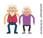 cute elderly person icon image  | Shutterstock .eps vector #690183109