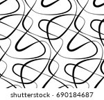 abstract seamless floral black... | Shutterstock . vector #690184687