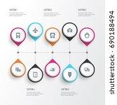 transport outline icons set.... | Shutterstock .eps vector #690188494