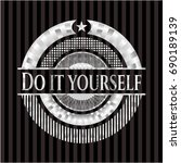 do it yourself silver badge | Shutterstock .eps vector #690189139
