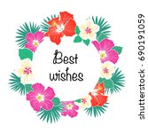 best wishes greeting card with... | Shutterstock .eps vector #690191059
