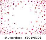 elegant festive wedding... | Shutterstock .eps vector #690195301
