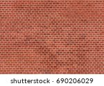 wall from red brick background  ... | Shutterstock . vector #690206029