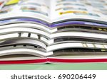 stack of magazines in print... | Shutterstock . vector #690206449