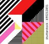seamless geometric pattern in... | Shutterstock .eps vector #690212851