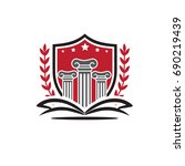 university logo | Shutterstock .eps vector #690219439