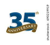 35 years anniversary vector... | Shutterstock .eps vector #690219919