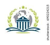 university logo | Shutterstock .eps vector #690224215