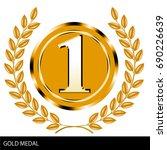 illustration of gold medals ...   Shutterstock .eps vector #690226639