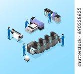 professional equipment for... | Shutterstock .eps vector #690228625