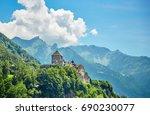 vaduz castle  the official... | Shutterstock . vector #690230077