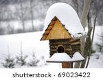 Bird Box Under Snow During The...