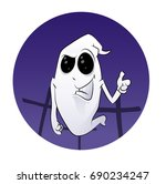 fun smiling cartoon spooky at...   Shutterstock .eps vector #690234247