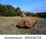large rock fronts the ozark...   Shutterstock . vector #690236755
