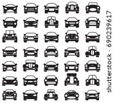 set of abstract cars... | Shutterstock .eps vector #690239617