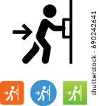 push door icon | Shutterstock .eps vector #690242641