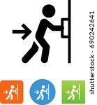 push door icon | Shutterstock .eps vector #690242641