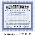 blue diploma. with complex...   Shutterstock .eps vector #690251125
