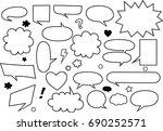 big set comic speech bubbles on ... | Shutterstock .eps vector #690252571