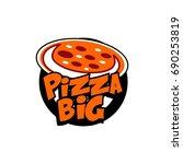 pizza logo | Shutterstock .eps vector #690253819