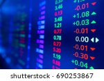 stock market graph and ticker... | Shutterstock . vector #690253867
