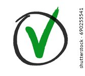 vote or approved check mark... | Shutterstock .eps vector #690255541