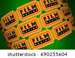 film making director movie... | Shutterstock . vector #690255604