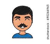 cartoon man icon   Shutterstock .eps vector #690266965