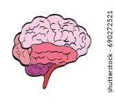 human brain symbol | Shutterstock .eps vector #690272521