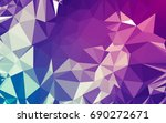 abstract low poly background ... | Shutterstock . vector #690272671